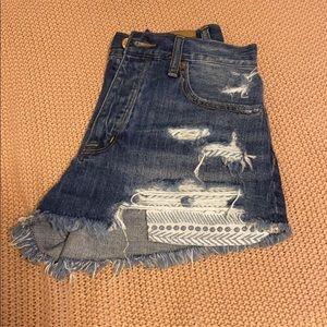 American Eagle Vintage Hi-Rise Festival Shorts